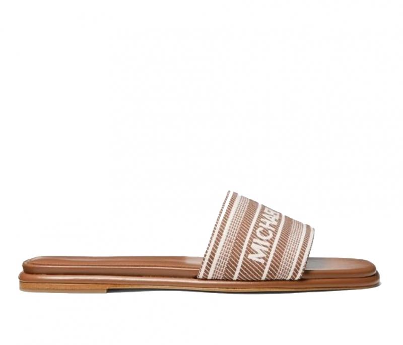 Značky - Obuv nazouváky Michael Kors Sadler Striped Logo Jacquard Slide Sandal