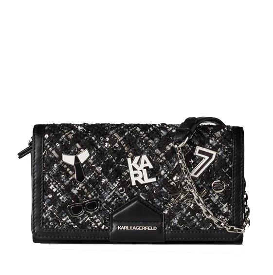 Ženy - Kabelka Karl Lagerfeld K/Studio Tweed Wallet