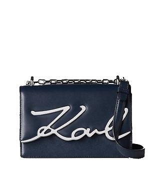 Ženy - Kabelka Karl Lagerfeld K/Signature Small Shoulder modrá