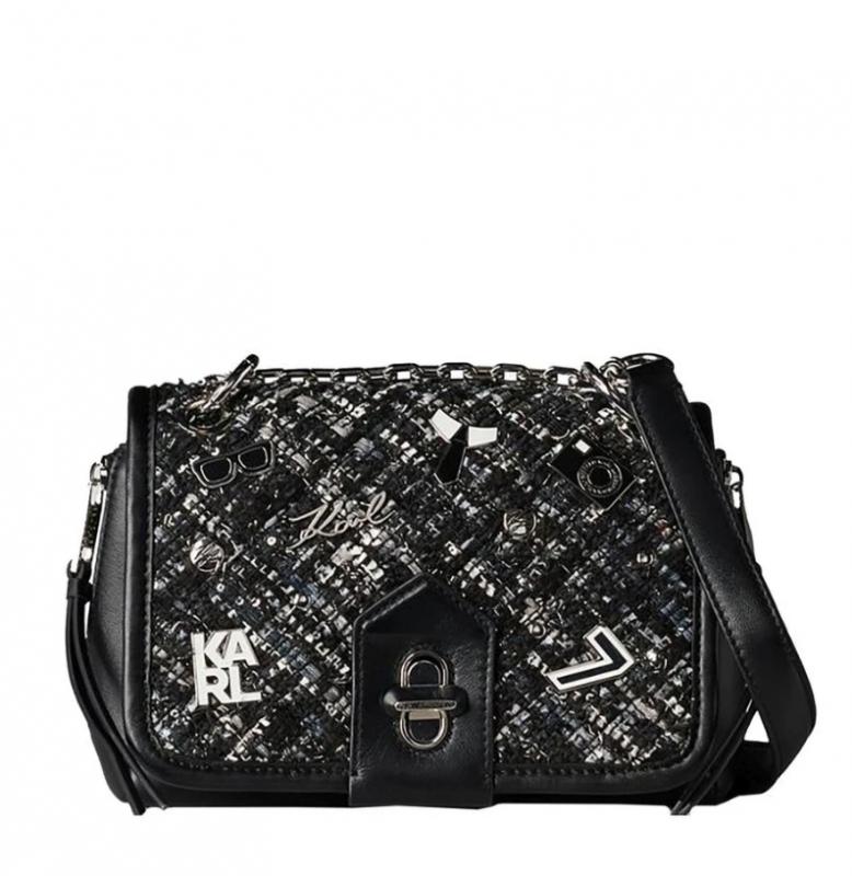 Ženy - Kabelka Karl Lagerfeld K/Studio Tweed Small Shoulderbag