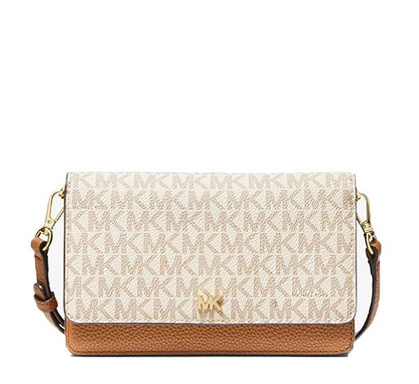 Značky - Kabelka Michael Kors Mott Logo and Leather Convertible Crossbody vanilla