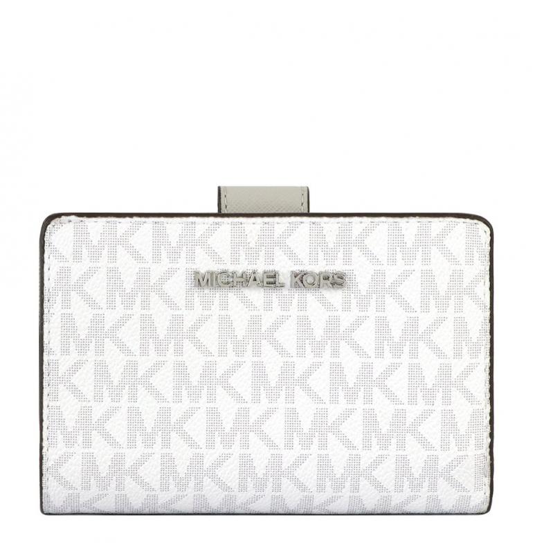 Značky - Peněženka Michael Kors Jet Set Travel Bifild Zip bright white