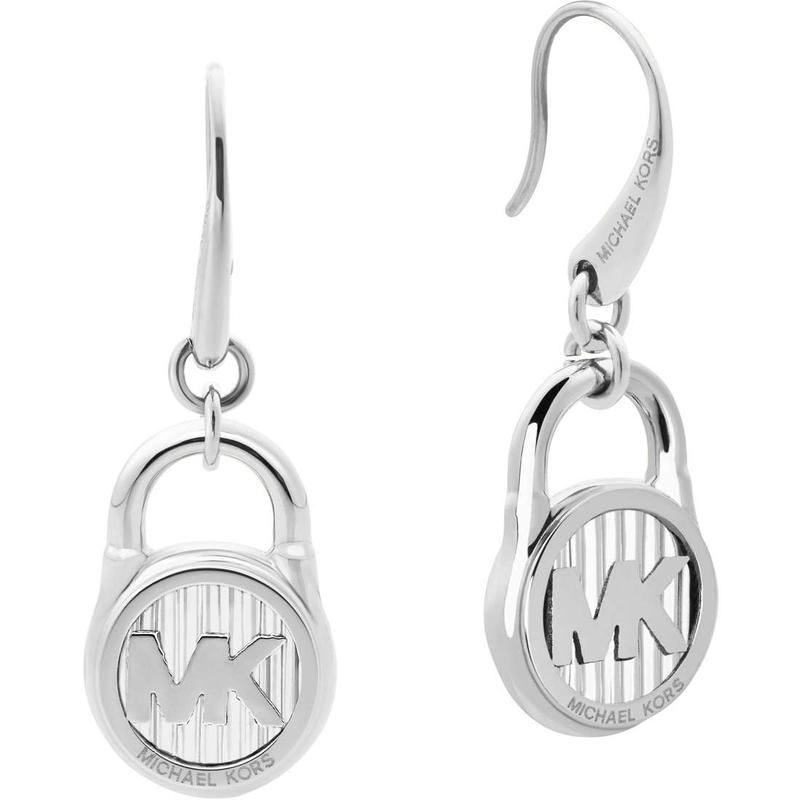 Značky - Naušnice Michael Kors Logo Lock stříbrné