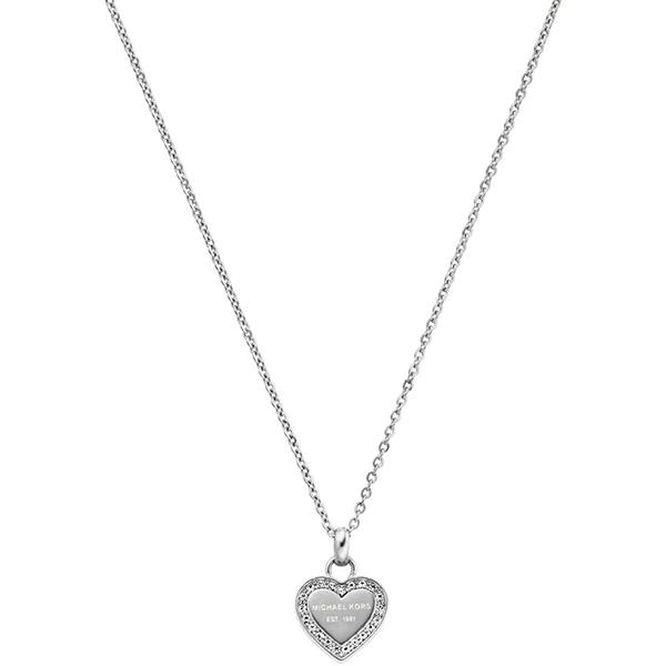 Značky - Náhrdelník Michael Kors Heart stříbrný