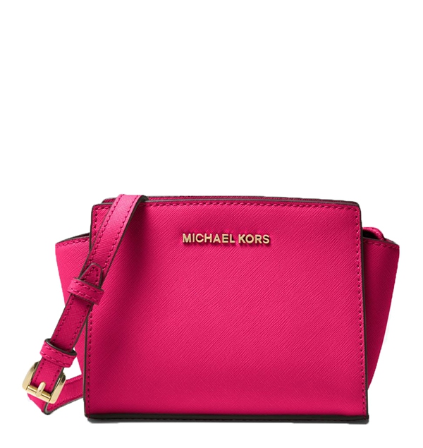 Značky - Kabelka Michael Kors Selma Mini Messenger Saffiano ultra pink 4265a260e45