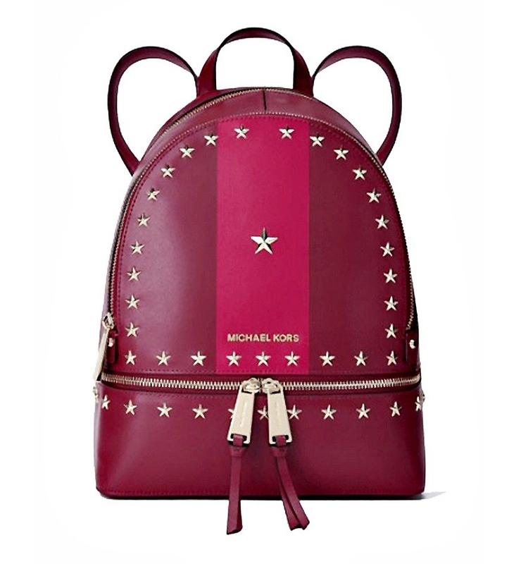 Značky - Kabelka Michael Kors Rhea Star Studded Backpack mulberry