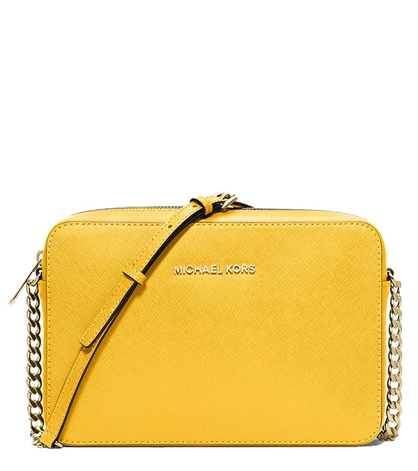 Značky - Kabelka Michael Kors Jet Set Large Saffiano Crossbody sunflower 6d4e44c332b