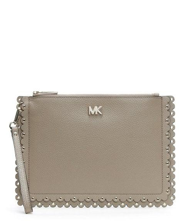 Značky - Kabelka Michael Kors Medium Scalloped Pebbled Leather Pouch truffle
