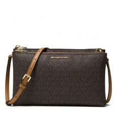 Kabelka Michael Kors Adele Double Zip Crossbody brown