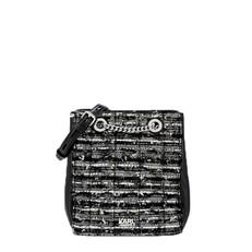 Kabelka Karl Lagerfeld K/Kuilted Leather and Tweed Bucket