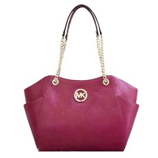 Kabelka Michael Kors Jet Set Travel Large Chain Shoulder cherry