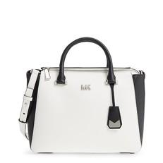 Kabelka Michael Kors Nolita Medium Leather Satchel optic white