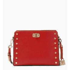 Kabelka Michael Kors Sylvie Studded Leather Messenger bright red