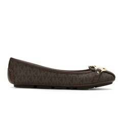 Baleriny Michael Kors Fulton Monogram brown