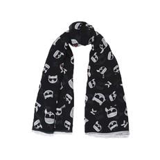 Šátek Karl Lagerfeld K/Ikonik Modal Cashmere Scarf
