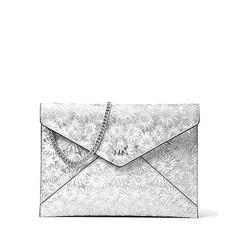 Kabelka Michael Kors Barbara Medium Floral Metallic Leather Envelope Clutch