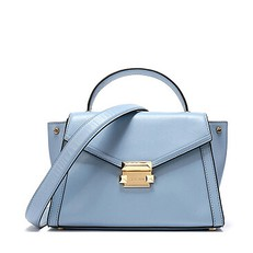 Kabelka Michael Kors Whitney Medium Leather Satchel pale blue