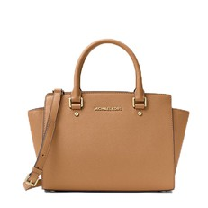 Kabelka Michael Kors Selma Saffiano Leather Medium Satchel acorn