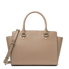 Kabelka Michael Kors Selma Saffiano Leather Medium Satchel truffle