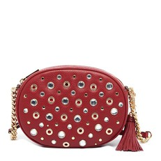 Kabelka Michael Kors Ginny Medium Studded Crossbody cherry