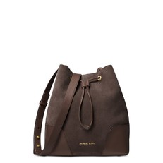Kabelka Michael Kors Cary Medium Suede and Leather Bucket Coffee