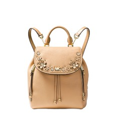 Kabelka batoh Michael Kors Evie Small Flower Garden Backpack butternut