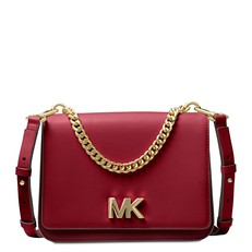 Kabelka Michael Kors Mott Colorblock Chain Swag Crossbody maroon/oxblood