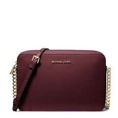 Kabelka Michael Kors Jet Set Large Saffiano Crossbody oxblood