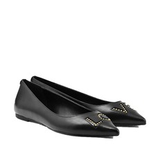 Baleriny Michael Kors Sia Love Studded Leather Flat černé