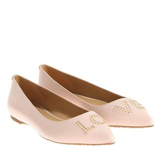 Baleriny Michael Kors Sia Love Studded Leather Flat soft pink