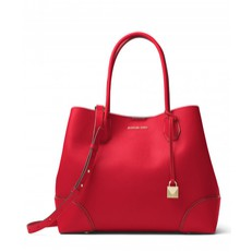 Kabelka Michael Kors Mercer Gallery Large Leather Tote bright red
