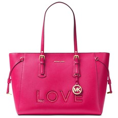 Kabelka Michael Kors Voyager Medium Love Tote ultra pink