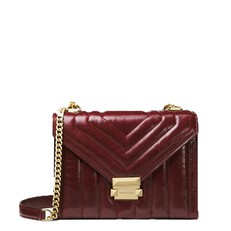 Kabelka Michael Kors Whitney Large Quilted Leather Convertible Shoulder oxblood