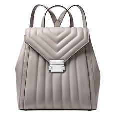 1907f447f2 Kabelka batoh Michael Kors Whitney Quilted Leather Backpack pearl grey