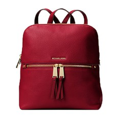 Kabelka batoh Michael Kors Rhea Medium Slim Backpack maroon