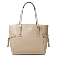 Kabelka Michael Kors Voyager Crossgrain Leather Tote oat