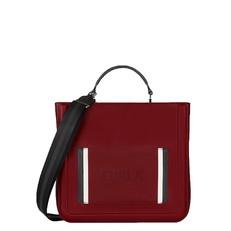 Kožená kabelka Furla Reale Tote ciliegia