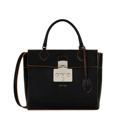 Kožená kabelka Furla Mantra Top Handle onyx
