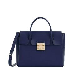 Kožená kabelka Furla Metropolis M blu