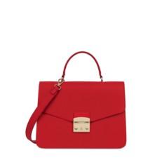 Kožená kabelka Furla Metropolis Top Handle M ruby