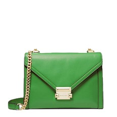 Kabelka Michael Kors Whitney Large Leather Convertible Shoulder true green