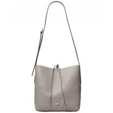Kabelka Michael Kors Junie Large Pebbled Leather Messenger pearl grey