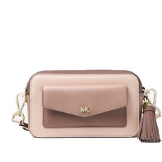 Kabelka Michael Kors Small Tri-Color Leather Camera soft pink/fawn