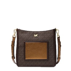 Kabelka Michael Kors Gloria Logo Messenger brown/bronze