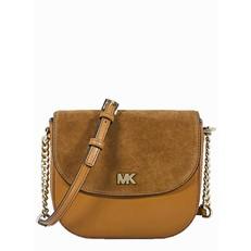 Kabelka Michael Kors Mott Leather and Suede Saddle acorn