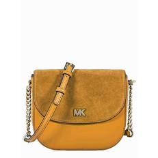 Kabelka Michael Kors Mott Leather and Suede Saddle marigold