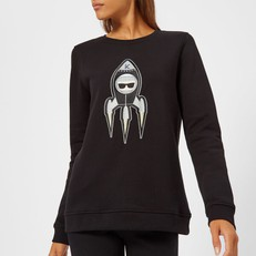 Mikina Karl Lagerfeld Karl Space Sweatshirt černá