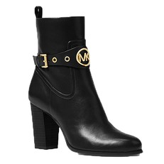 Boty Michael Kors Heather Leather Ankle Boot černé
