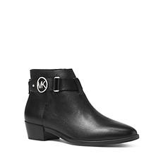 Boty Michael Kors Harland Leather Booties černé
