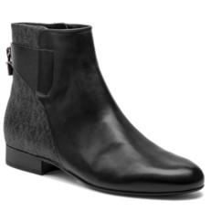 Boty Michael Kors Mira Flat Ankle Boots černé